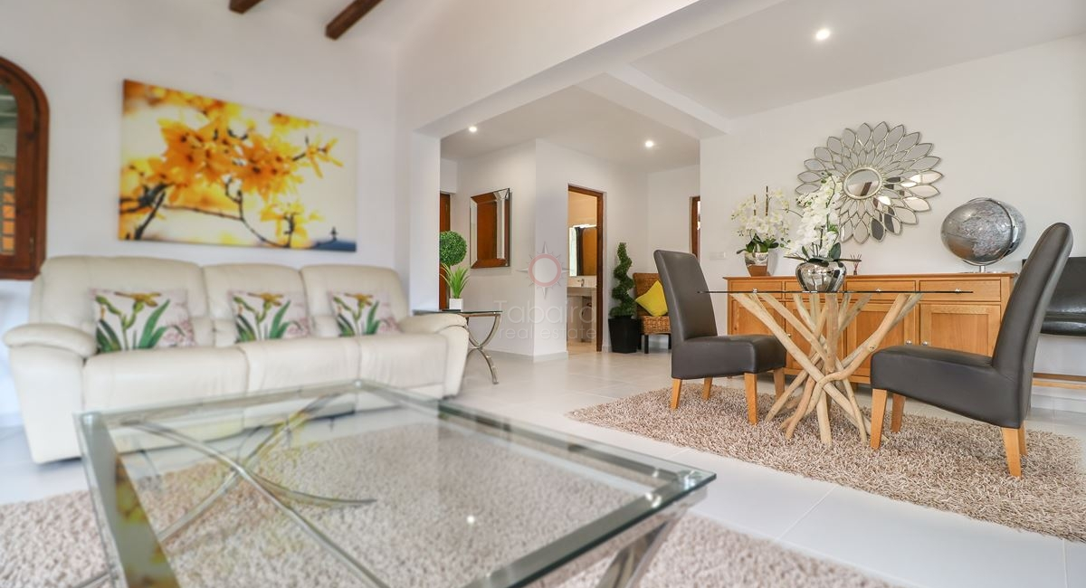 Principal living and dining area from the San Jaime Moraira villa