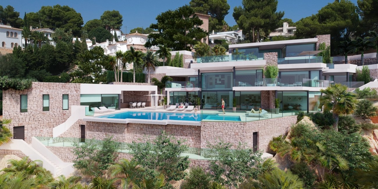 Firstline to the sea villa for sale in Moraira walking to services